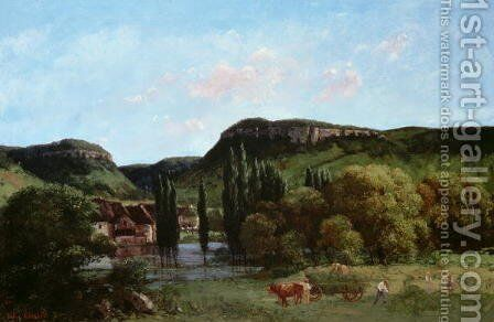 View of Ornans 1864 by Gustave Courbet - Reproduction Oil Painting