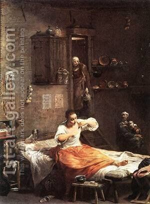 Searcher For Fleas by Giovanni Battista Crespi (Cerano II) - Reproduction Oil Painting