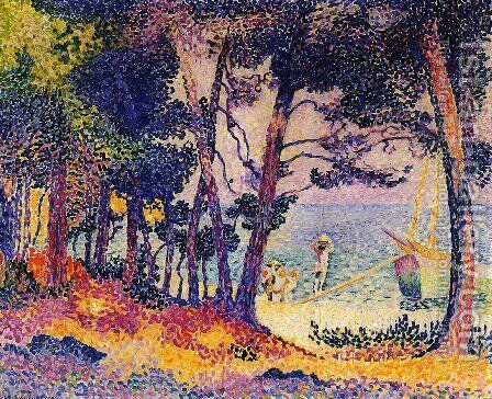 A Pine Wood, Provence 1906 by Henri Edmond Cross - Reproduction Oil Painting