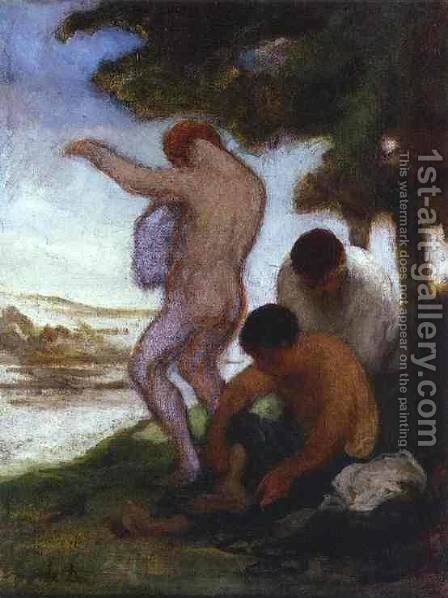 Bathers 1852-53 by Honoré Daumier - Reproduction Oil Painting