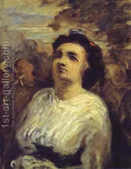 Bust Of A Woman 1850-55 by Honoré Daumier - Reproduction Oil Painting