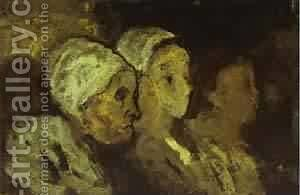 In Church 1860 by Honoré Daumier - Reproduction Oil Painting