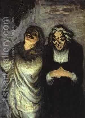 Scapin 1863-65 by Honoré Daumier - Reproduction Oil Painting