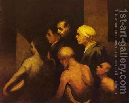 The Beggars 1845 by Honoré Daumier - Reproduction Oil Painting