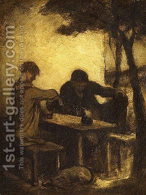 The Drinkers by Honoré Daumier - Reproduction Oil Painting