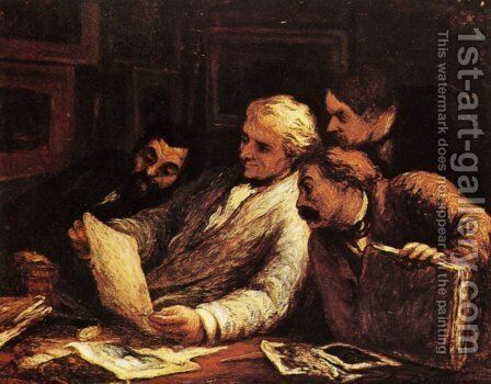 The Etching Amateurs 1860-63 by Honoré Daumier - Reproduction Oil Painting