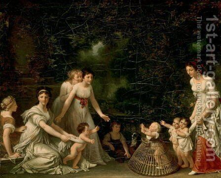 The First Steps by Johann Victor Kramer - Reproduction Oil Painting