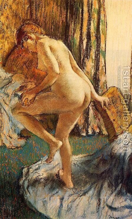 After the Bath 1883 by Edgar Degas - Reproduction Oil Painting