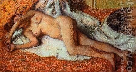 After the Bath 1885 by Edgar Degas - Reproduction Oil Painting