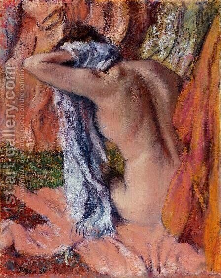 After the Bath 1890-1893 by Edgar Degas - Reproduction Oil Painting