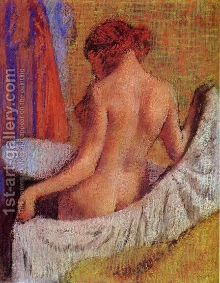 After the Bath 1890-1895 by Edgar Degas - Reproduction Oil Painting