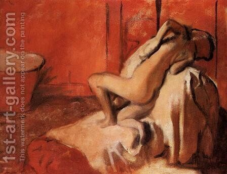 After the Bath 1896 by Edgar Degas - Reproduction Oil Painting