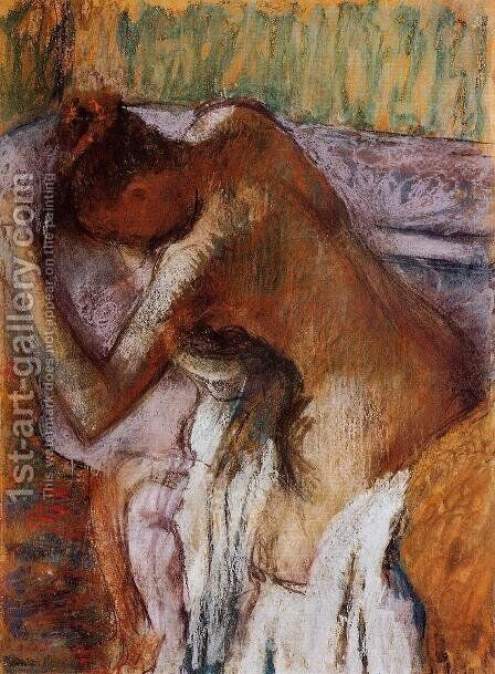 After the Bath 1900-1910 by Edgar Degas - Reproduction Oil Painting