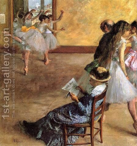 Ballet Class The 1881 by Edgar Degas - Reproduction Oil Painting