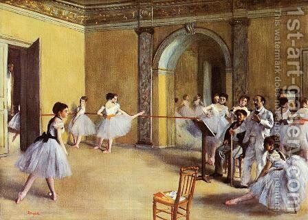 Dance Class at the Opera 1872 by Edgar Degas - Reproduction Oil Painting