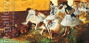 Dancers In The Green Room by Edgar Degas - Reproduction Oil Painting