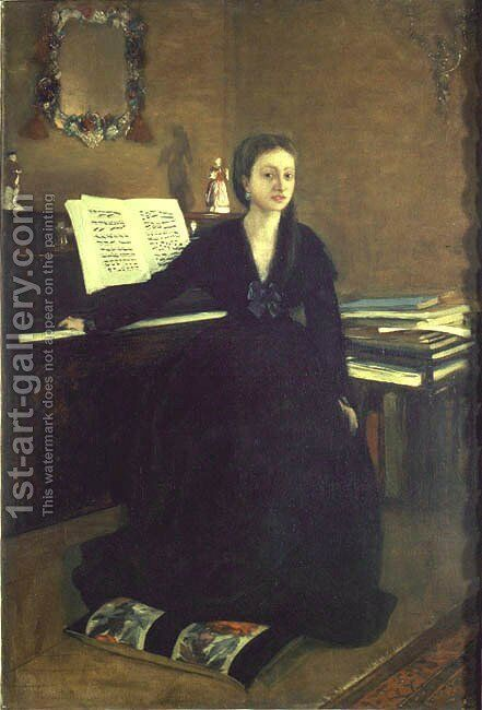 Madame Camus at the Piano by Edgar Degas - Reproduction Oil Painting