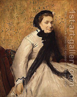 Portrait of a Woman in Gray ca. 1865 by Edgar Degas - Reproduction Oil Painting