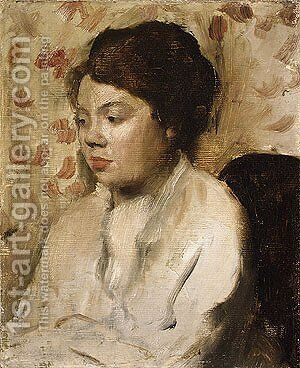 Portrait of a Young Woman ca. 1885 by Edgar Degas - Reproduction Oil Painting