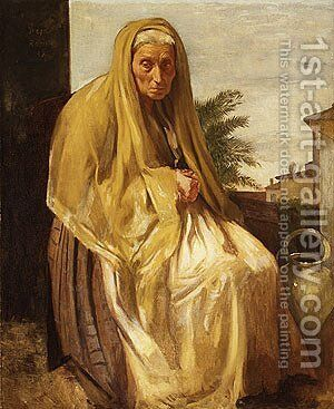 The Old Italian Woman 1857 by Edgar Degas - Reproduction Oil Painting