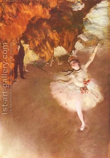 The Star (aka Dancer on Stage) 1878 by Edgar Degas - Reproduction Oil Painting