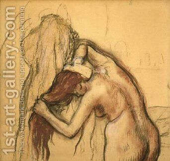 Woman Drying Herself 1905 by Edgar Degas - Reproduction Oil Painting
