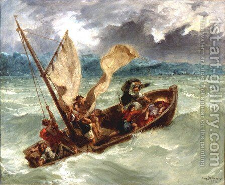 Christ on the Sea of Galilee by Eugene Delacroix - Reproduction Oil Painting