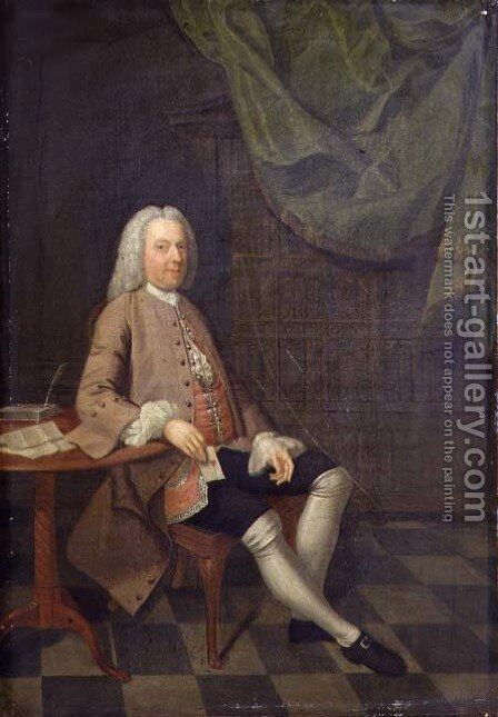 Portrait of John Orlebar 1740 by Arthur William Devis - Reproduction Oil Painting