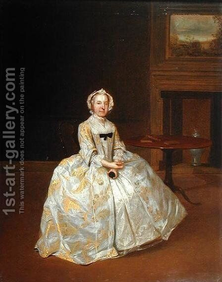 Portrait of Miss Elizabeth Hemyng 1738 42 by Arthur William Devis - Reproduction Oil Painting