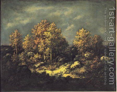 The Jean de Paris Heights in the Forest of Fontainebleau 1867 by Narcisse-Virgile Díaz de la Peña - Reproduction Oil Painting