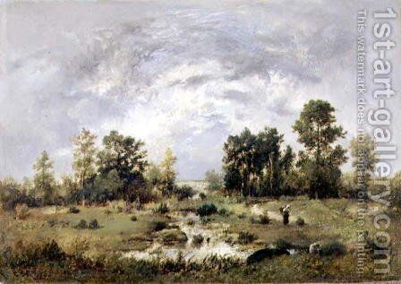 Wooded landscape 1870 by Narcisse-Virgile Díaz de la Peña - Reproduction Oil Painting