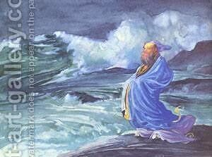 A Rishi Calling up a Storm by Jeno Gabor - Reproduction Oil Painting