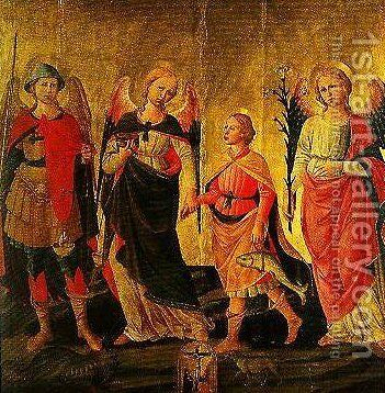 Tobias and the Three Archangels by Domenico Di Michelino - Reproduction Oil Painting