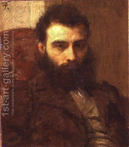 Portrait of a Man by Ignace Henri Jean Fantin-Latour - Reproduction Oil Painting