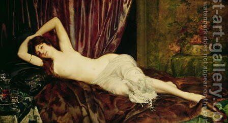 Reclining Nude by Ignace Henri Jean Fantin-Latour - Reproduction Oil Painting