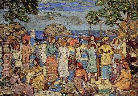 Beach at Gloucester 1918-1921 by Toulouse-Lautrec - Reproduction Oil Painting