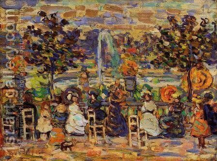In Luxembourg Gardens 1907 by Toulouse-Lautrec - Reproduction Oil Painting