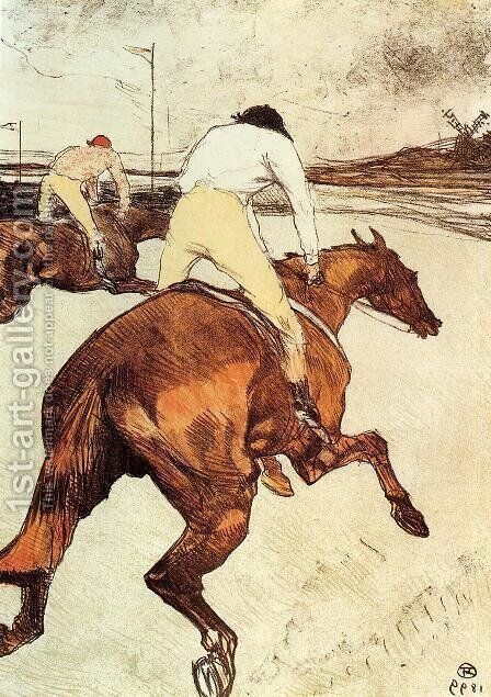 The Jockey 1899 by Toulouse-Lautrec - Reproduction Oil Painting