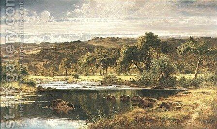A Bright Afternoon North Wales by Benjamin Williams Leader - Reproduction Oil Painting