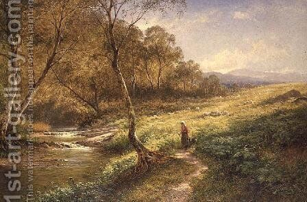 On the Lledr 1881 by Benjamin Williams Leader - Reproduction Oil Painting