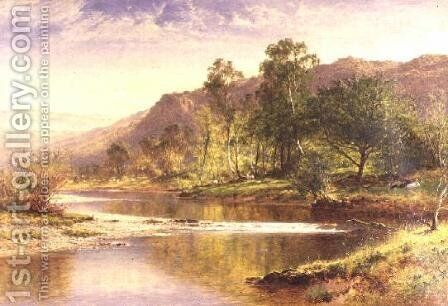 The River Running into Derwentwater by Benjamin Williams Leader - Reproduction Oil Painting