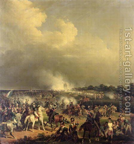 Battle of Boussu 3rd November 1792 1845 by Charles Emile Hippolyte Lecomte-Vernet - Reproduction Oil Painting