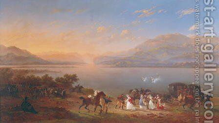 Empress Josephine by Charles Emile Hippolyte Lecomte-Vernet - Reproduction Oil Painting