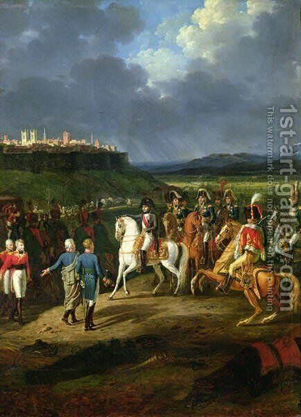 The English Prisoners at Astorga Being Presented to Napoleon Bonaparte by Charles Emile Hippolyte Lecomte-Vernet - Reproduction Oil Painting
