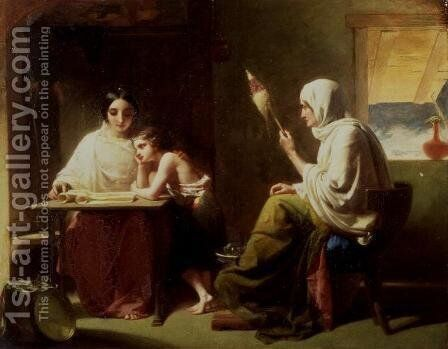The Early Days of Timothy by Henry Lejeune - Reproduction Oil Painting