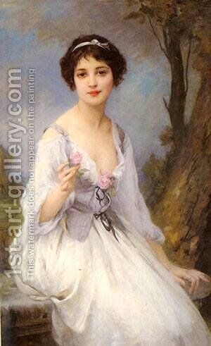 The Pink Rose by Charles Amable Lenoir - Reproduction Oil Painting