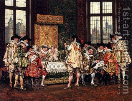The Rehearsal 2 by Adolphe Alexandre Lesrel - Reproduction Oil Painting