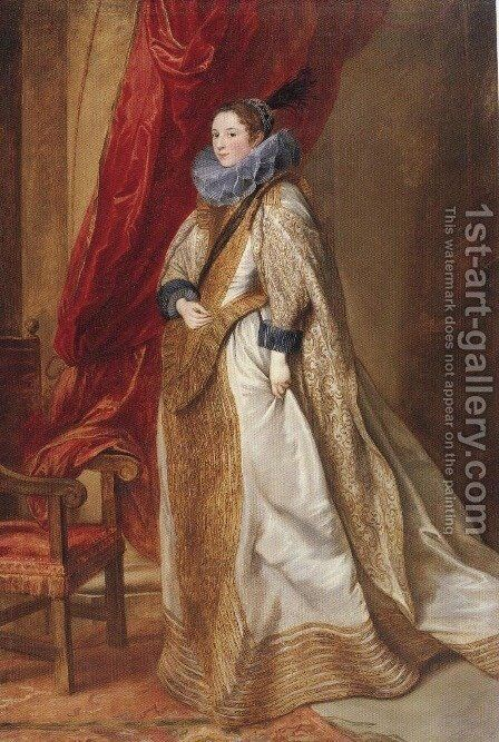 Paola Adorno Marchesa Di Brignole Sale 1627 by Sir Anthony Van Dyck - Reproduction Oil Painting