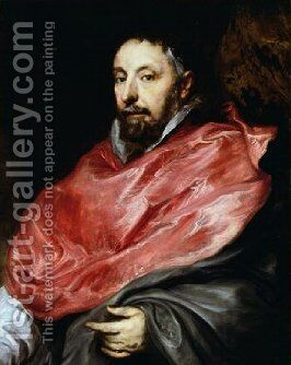 Portrait of Antoine Triest Bishop of Ghent 1627 by Sir Anthony Van Dyck - Reproduction Oil Painting