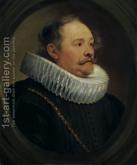Portrait of Engelbert Taie baron of Wemmel by Sir Anthony Van Dyck - Reproduction Oil Painting
